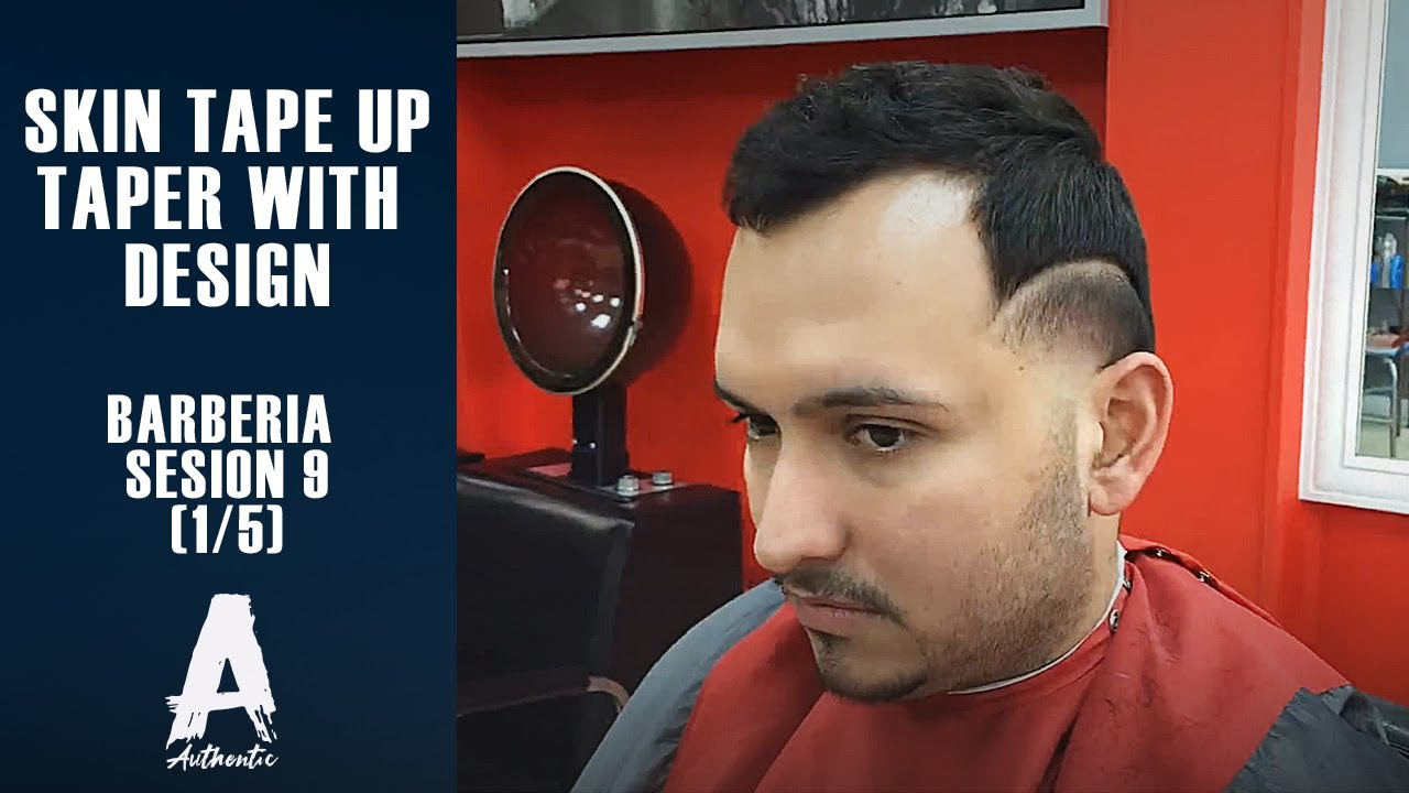 Barberia sesion 9 skin tape uptaper with design 15 youtube urmus Image collections