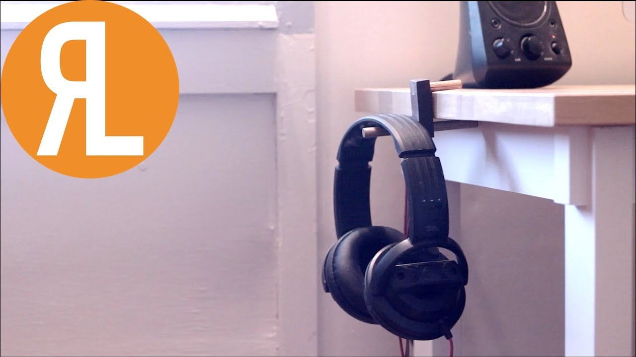 Headphone Stand Designs : How to make a simple headphone holder youtube