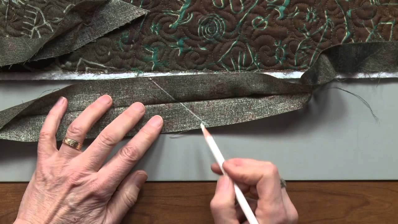 Quilt Binding 3 of 4: Joining the Ends - YouTube : ending quilt binding - Adamdwight.com