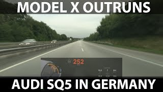 Tesla Model X outruns Audi SQ5 in Germany