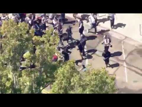 Berkeley cops STAND DOWN and Antifa to brutally beat people