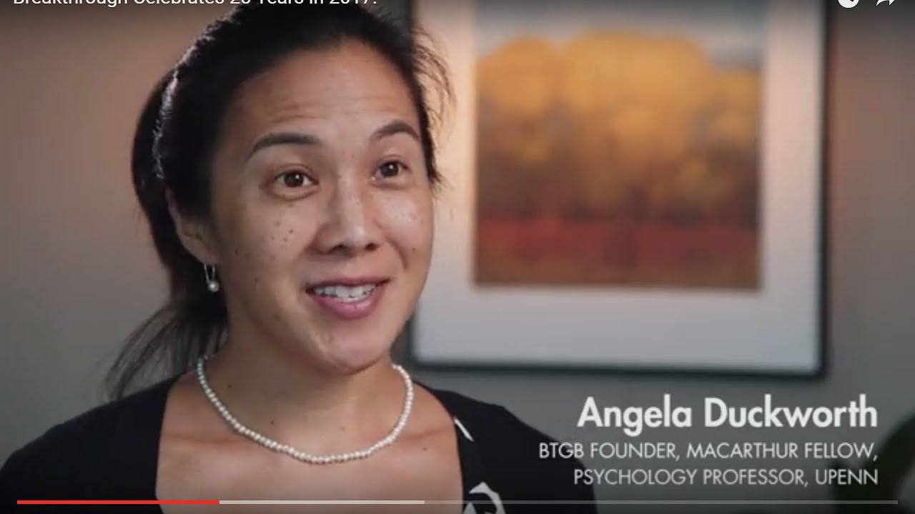 Macarthur Genius Angela Duckworth >> Reflections From Our Founder Dr Angela Duckworth Youtube