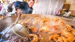 Extreme Chinese Street Food - JACUZZI CHICKEN and Market Tour in Kunming! | Yunnan, China Day 4