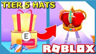HOW POWERFUL ARE TIER 5 HATS - ROBLOX PET SIMULATOR UPDATE