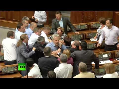 Kiev Rada punch-up (episode 300+): Far-right vs Communists