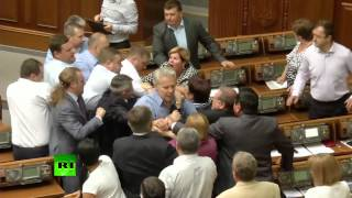 Kiev Rada Punch-up (episode 300+): Far-right Vs Communists