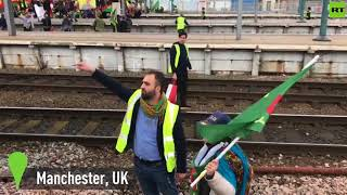 Protesters shut down UK stations as they decry Turkish offensive in Syria