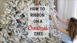 How To Put Ribbon On A Christmas Tree!