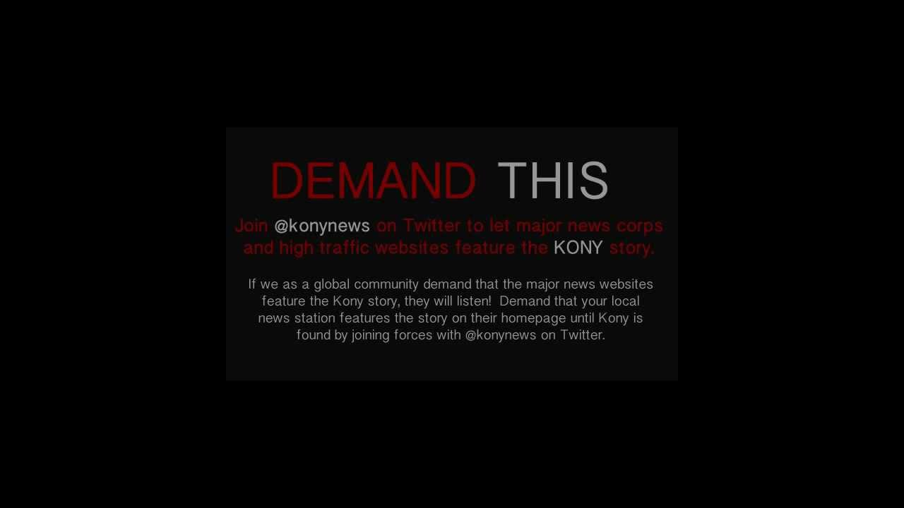 find kony kony news 2012 youtube