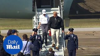 Trump arrives in Florida to discuss Hurricane Michael recovery