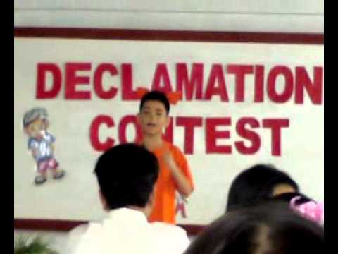 the guilty child declamation piece