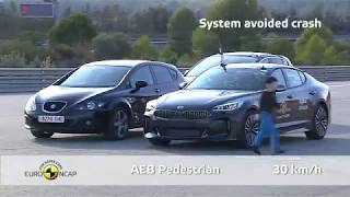 Euro NCAP Kia Stinger crash tests ***** five stars