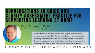 Conversations to Guide and Clarify Assessment...