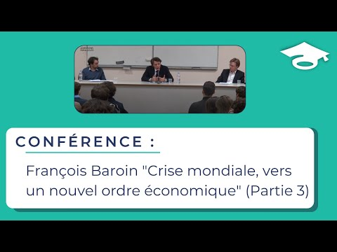 """François Baroin """"Crise mondiale, vers un nouvel ordre économique"""" (partie 3)"""