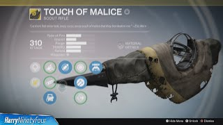 Destiny: The Taken King - How to Get the Touch of Malice Exotic (The Old Hunger Questline)