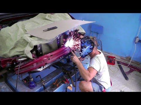 SUBARU Legacy. USA.  Рихтовка усилителя бампера, рычага подвески.