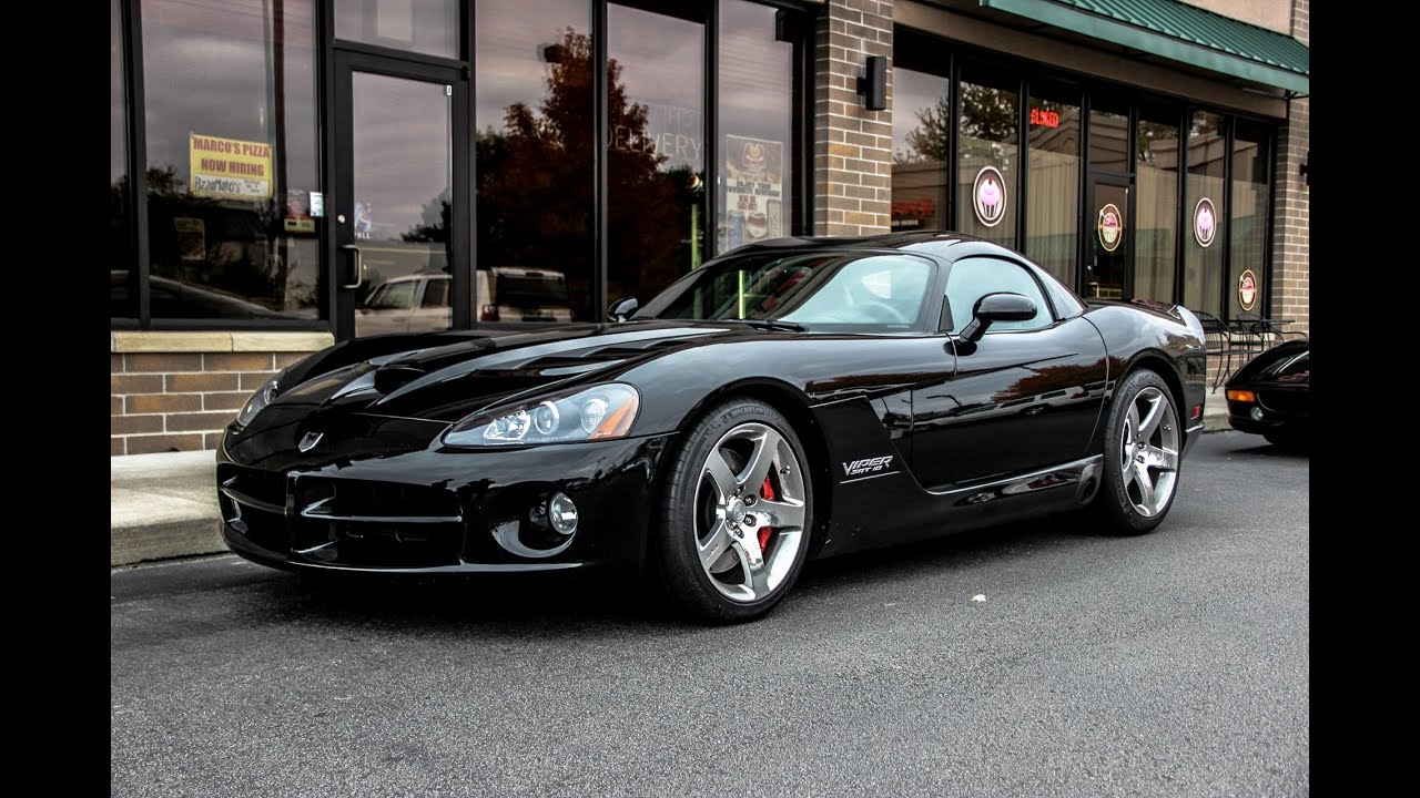 2008 Corvette For Sale >> Black Dodge Viper SRT 10. - YouTube
