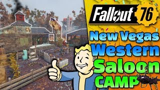 New Vegas Style Western Camp - Fallout 76 CAMP Build!