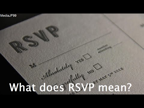 What does RSVP mean?