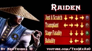 Repeat youtube video Mortal Kombat 9 - All Fatalities & Babalities and X-Ray Compilation - [HD] (1)