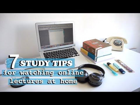 HOW TO WATCH ONLINE LECTURES AT HOME? | STUDY TIPS