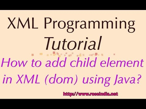 How to add child element in XML (dom) using Java?