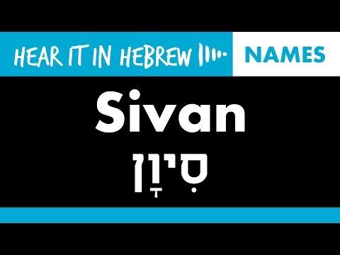 How to pronounce Sivan in Hebrew | Names