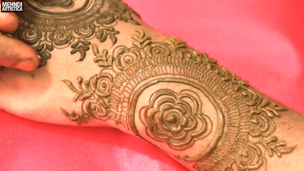 Mehndi Flower Designs For Hands : Gulf roses floral mehndi designs for hands:easy simple stylish