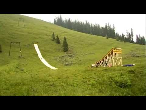 Slip and Fly - Amazing Waterslide Jump!