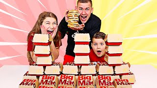 Last to Stop Eating BIG MACS Wins $1,000! | JKrew