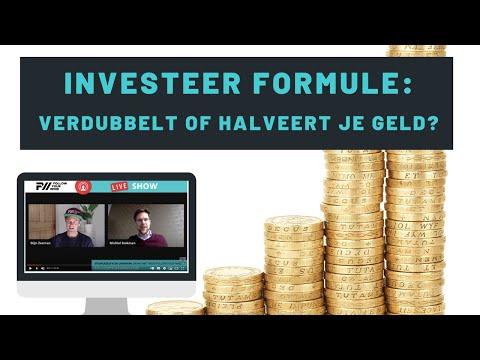 Hoe weet je of je geld verdubbelt of halveert? – 70 INVESTEER FORMULE van Hoogleraar Statistiek