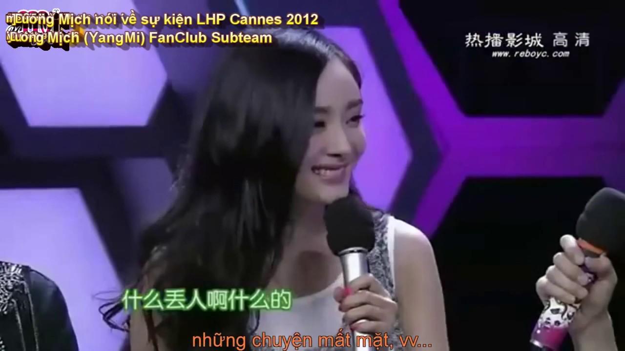 [Vietsub][YMFC Subteam] Dương Mịch nói về sự kiện LHP Cannes 2012