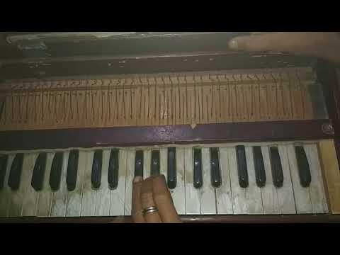 Dil ki tanhai ko-play harmonium
