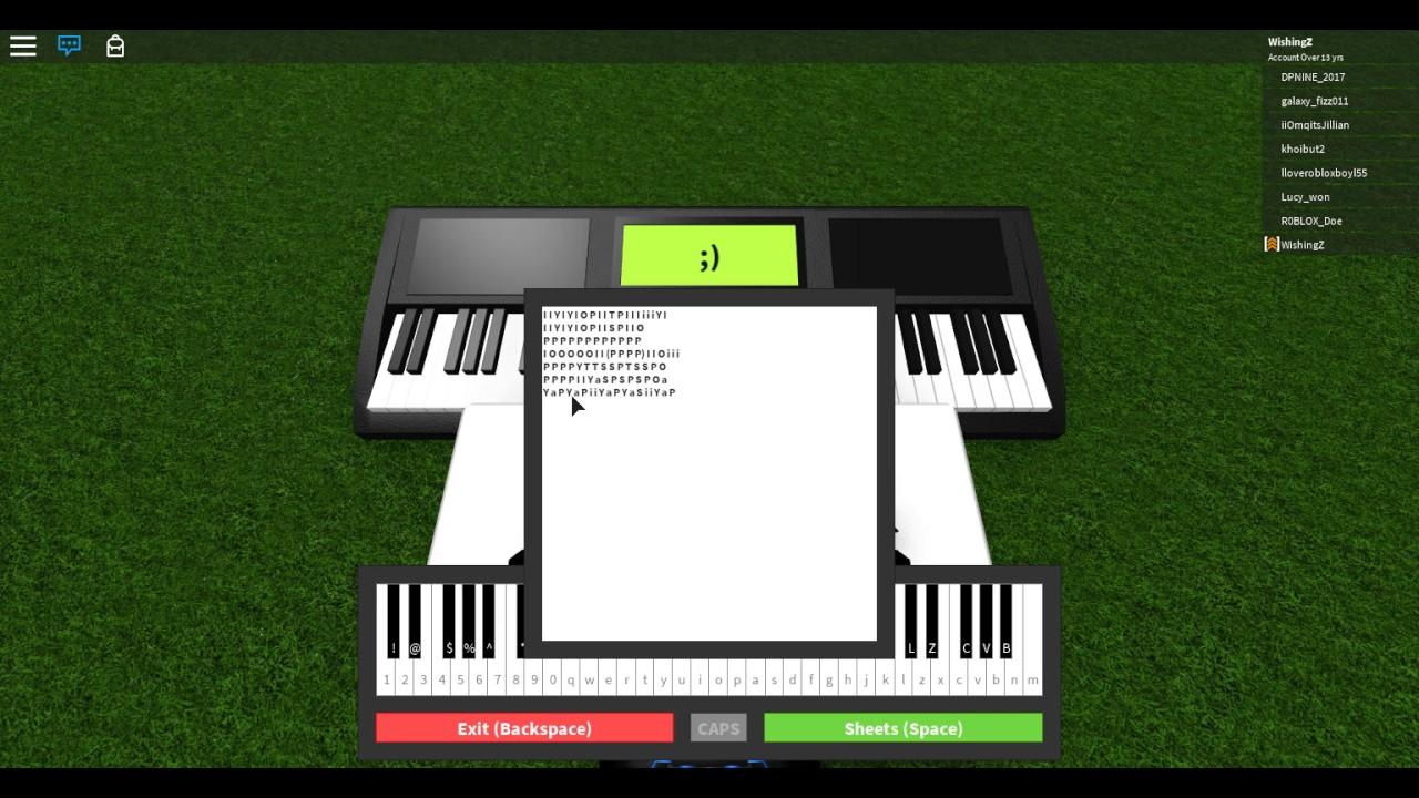 Roblox Piano Faded Youtube