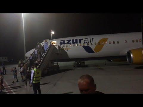 Прилетели в Египет. Посадка. Аэропорт Хургады. Виза в Египте