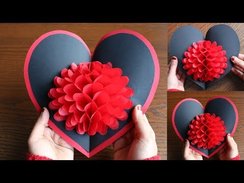 DIY Flower Pop up CardPaper CraftsHandmade Craft