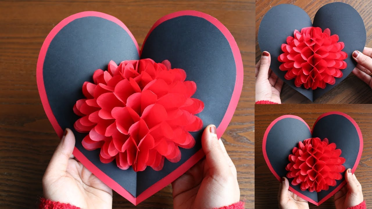 Diy Flower Pop Up Card 6 Paper Crafts Handmade Craft Youtube