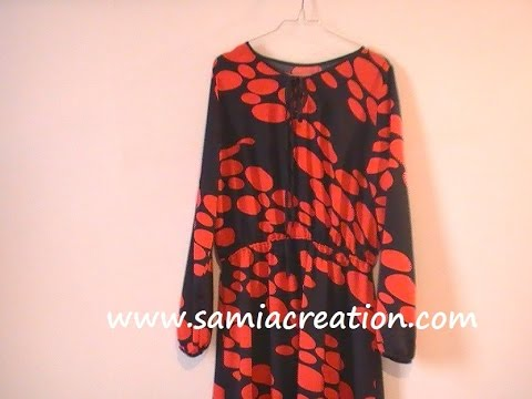 Robe longue couture