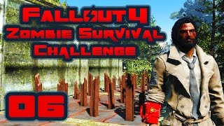 Let's Play Fallout 4: Zombie Survival Challenge - Part 6 - Real Big Roaches