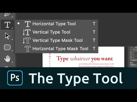 How To Use The Type Tool In Photoshop