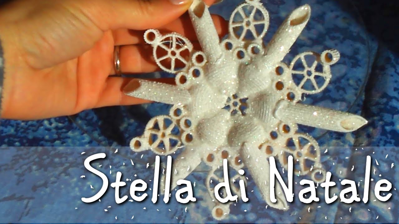 Stella di natale con la pasta youtube for Youtube lavoretti di natale