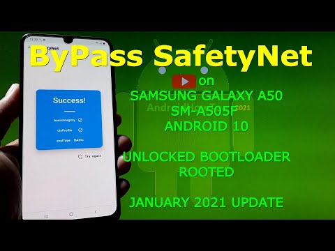 Bypass SafetyNet Samsung Galaxy A50 SM-A505F Rooted - January 2021 Update