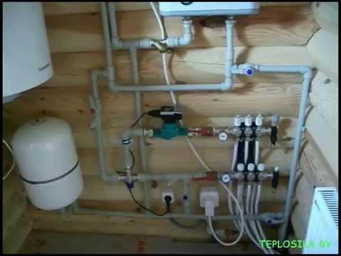 Монтаж комбинированной системы отопления, часть 1