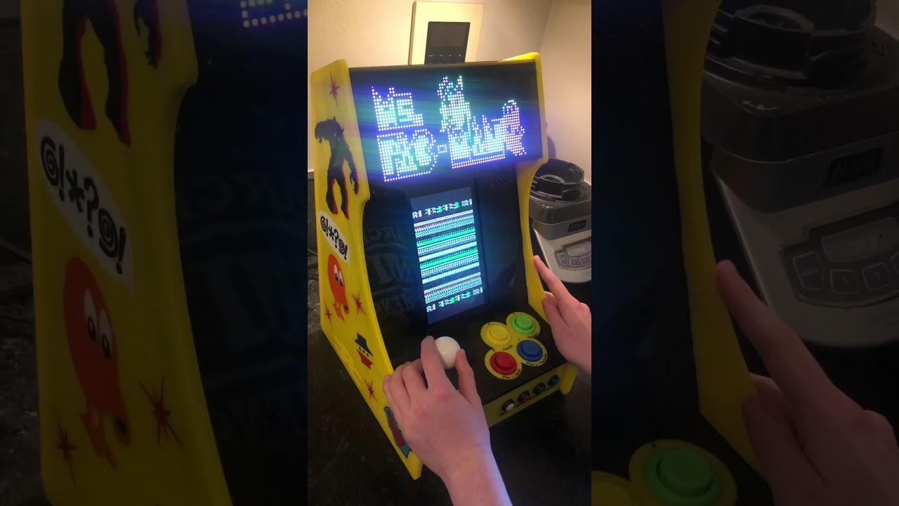 Vertical Bartop Arcade With Integrated PIXEL LED Display: 11