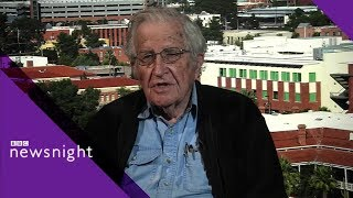 Noam Chomsky: \'Trump is the defender stabbing you in the back\' - BBC Newsnight