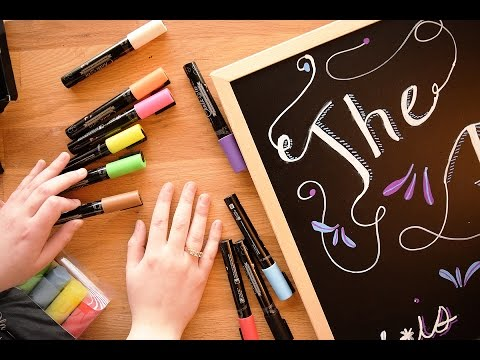 Chalkboard Hand Lettering For Complete Beginners :)