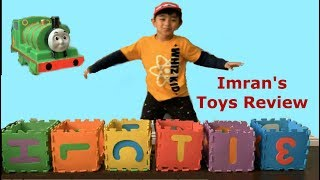 Imran pretends play  Learn Colors Preschool Toddler Kids Thomas Trains McQueen Video