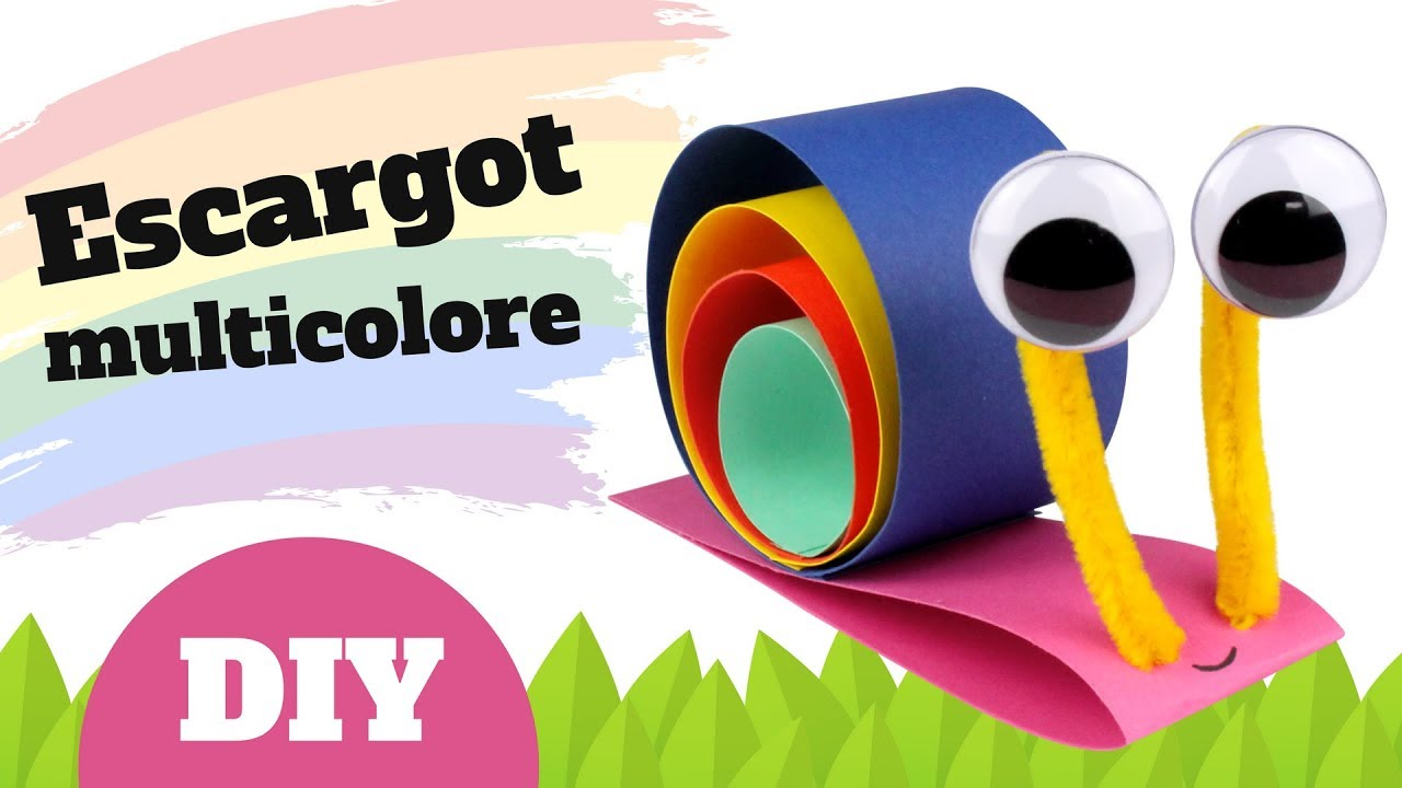 comment fabriquer un escargot en papier bricolage facile pour enfants youtube. Black Bedroom Furniture Sets. Home Design Ideas