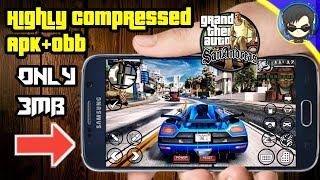 [3 MB] Download GTA San Andreas Highly Compressed Apk+Obb Only 3mb Full Game For Android - GTA SA