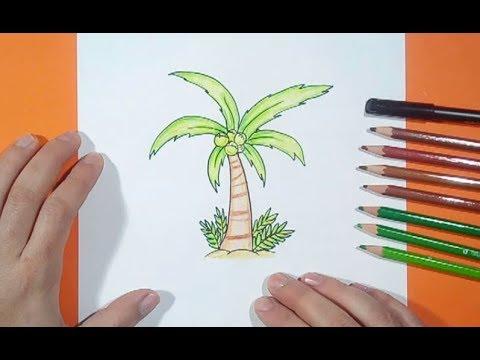 Como Dibujar Una Palmera Paso A Paso 4 How To Draw A Palm Tree 4